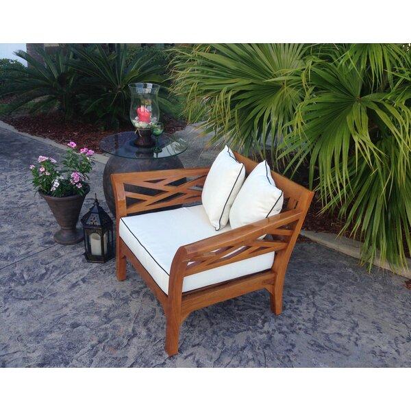 Long Island Teak Patio Chair with Cushion by Chic Teak