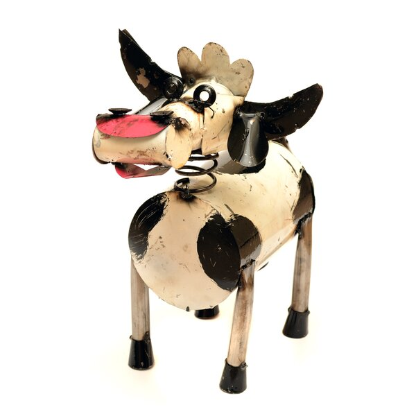 Small Spring Neck Cow Statue by Rustic Arrow