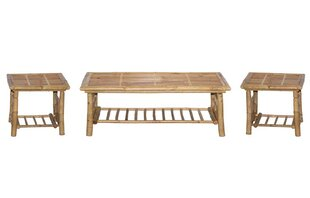 3 Piece Coffee Table Set Bamboo54