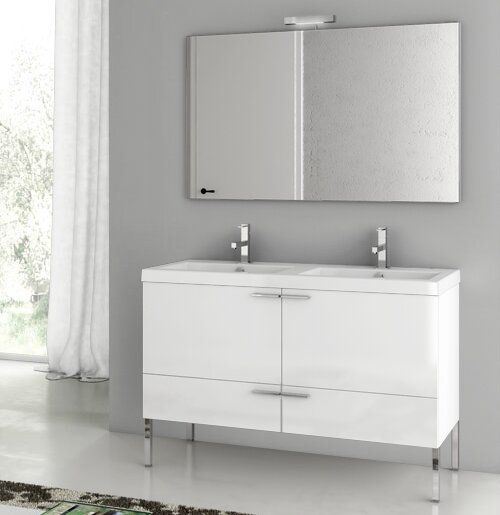 New Space 47 Bathroom Vanity Set with Mirror by ACF Bathroom Vanities