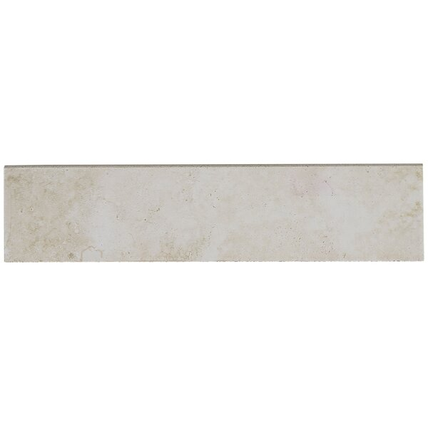 Davenport 12 x 3 Porcelain Bullnose Tile Trim in Sand by Daltile