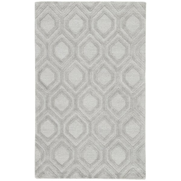 Heberling Hand-Tufted Vapor Blue/Feather Gray Area Rug by Mercer41