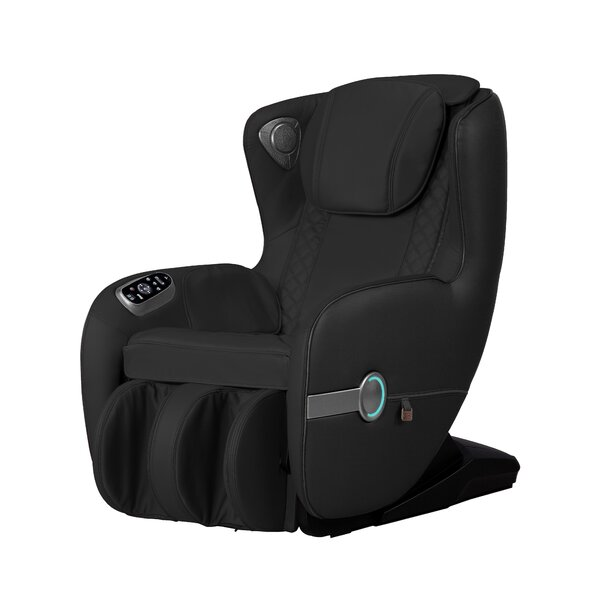Compact Genuine Leather Power Reclining Full Body Massage Chair By Winston Porter