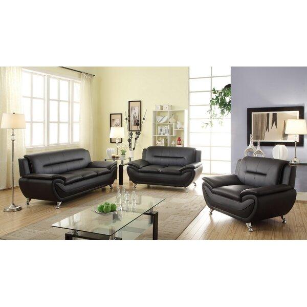 Monica 3 Piece Living Room Set by Orren Ellis