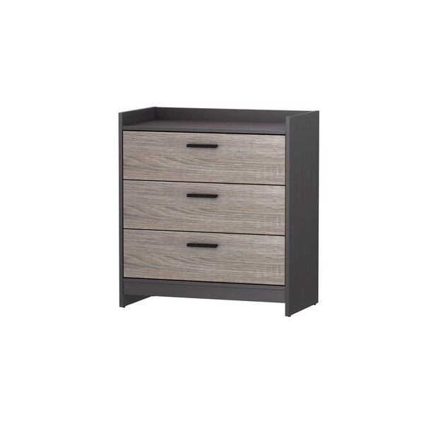 Nowell 3 Drawer Chest by Hashtag Home
