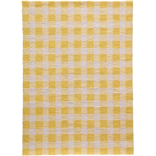 Violet Hand-Woven Yellow/White Area Rug by August Grove