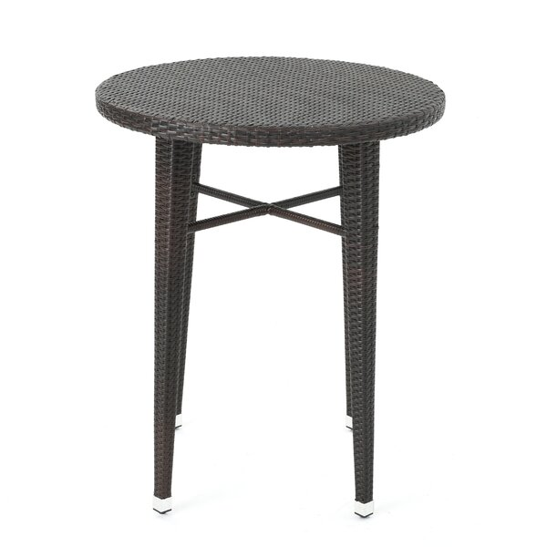 Hartwick Wicker Bar Table by Alcott Hill