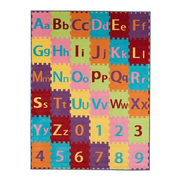 Ailish Alphabet Letters and Numbers Area Rug by Zoomie Kids