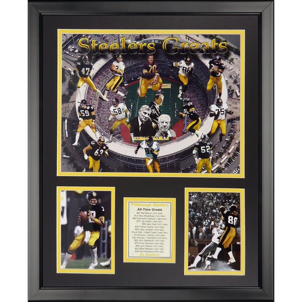 NFL Pittsburgh Steelers - Steeler Greats Framed Memorabili by Legends Never Die