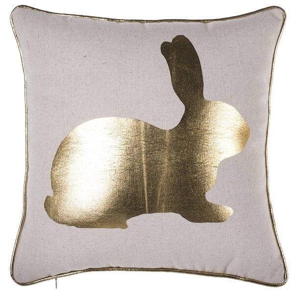 Buckner Golden Bunny Throw Pillow by Wrought Studio