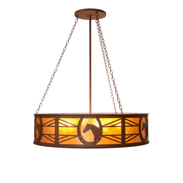 Hillard 6 - Light Unique / Statement Drum Chandelier by Millwood Pines Millwood Pines