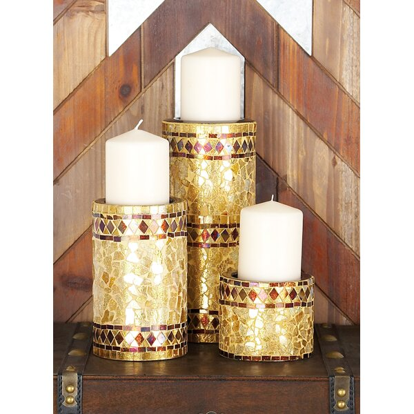 3 Piece Metal Candle Holder Set by Bungalow Rose