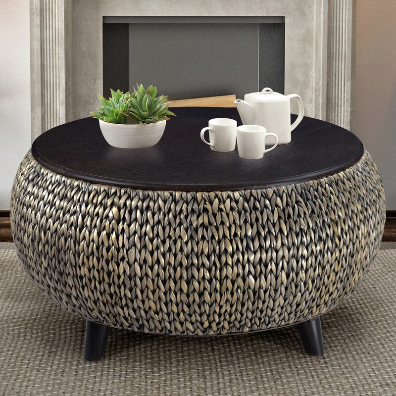 World menagerie dimitri round coffee table reviews wayfair for Coffee tables you can put photos in