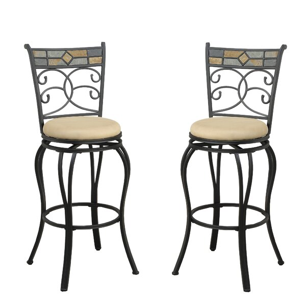 Bobkona Adney 29 Swivel Bar Stool (Set of 2) by Poundex