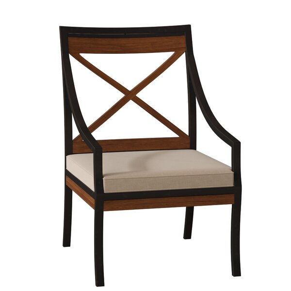 Belize Patio Dining Arm Chair with Cushion by Summer Classics Summer Classics