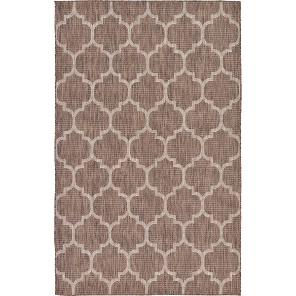 Hampstead Brown Outdoor Area Rug by Charlton Home