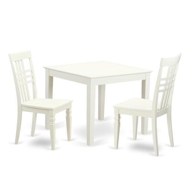3 Piece Dining Set By East West Furniture 2019 Sale