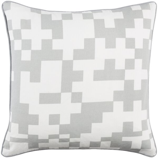Antonia Contemporary Puzzle Cotton Throw Pillow Cover by Langley Street