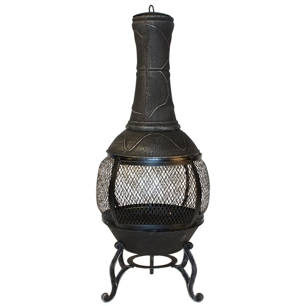 Horizon Steel Wood Burning Chiminea by World Source Partners