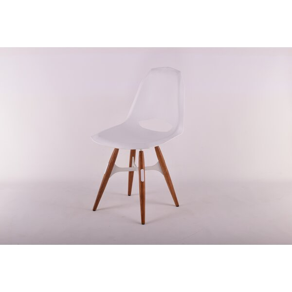 Schoenrock Solid Back Zigzag Side Chair In White By Wrought Studio