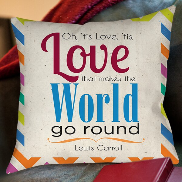 World Sdgraphics Studio Sundance Printed Throw Pillow by Manual Woodworkers & Weavers