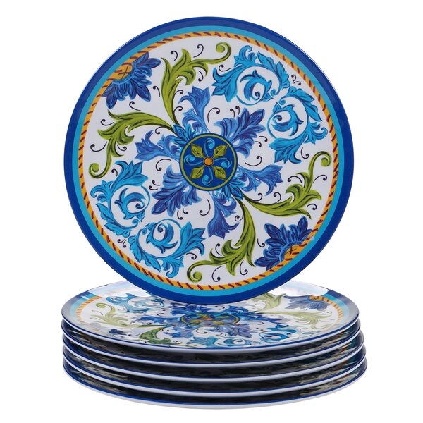 Filion Melamine Dinner Plate (Set of 6) by Charlton Home