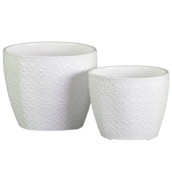 Susannah Round Design Body Pot Planter (Set of 2) by Ivy Bronx