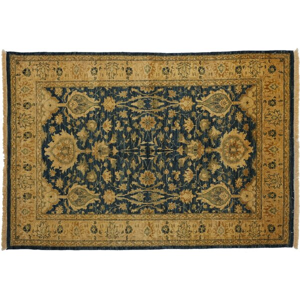 One-of-a-Kind Ottoman Hand-Knotted Blue Area Rug by Darya Rugs