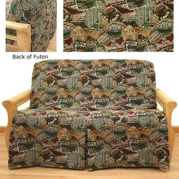 Travel Skirted Box Cushion Futon Slipcover By Easy Fit