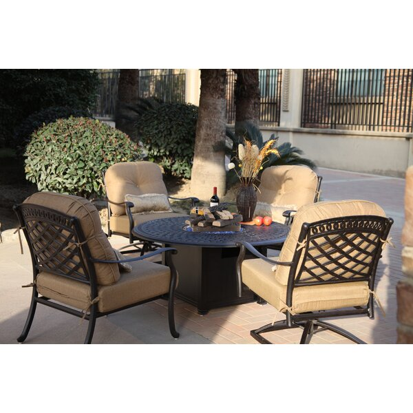 Thompson 5 Piece Conversation Set with Cushions by Alcott Hill