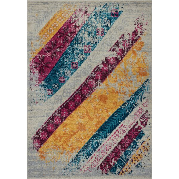 Shapiro Purple/Blue Area Rug by Harriet Bee