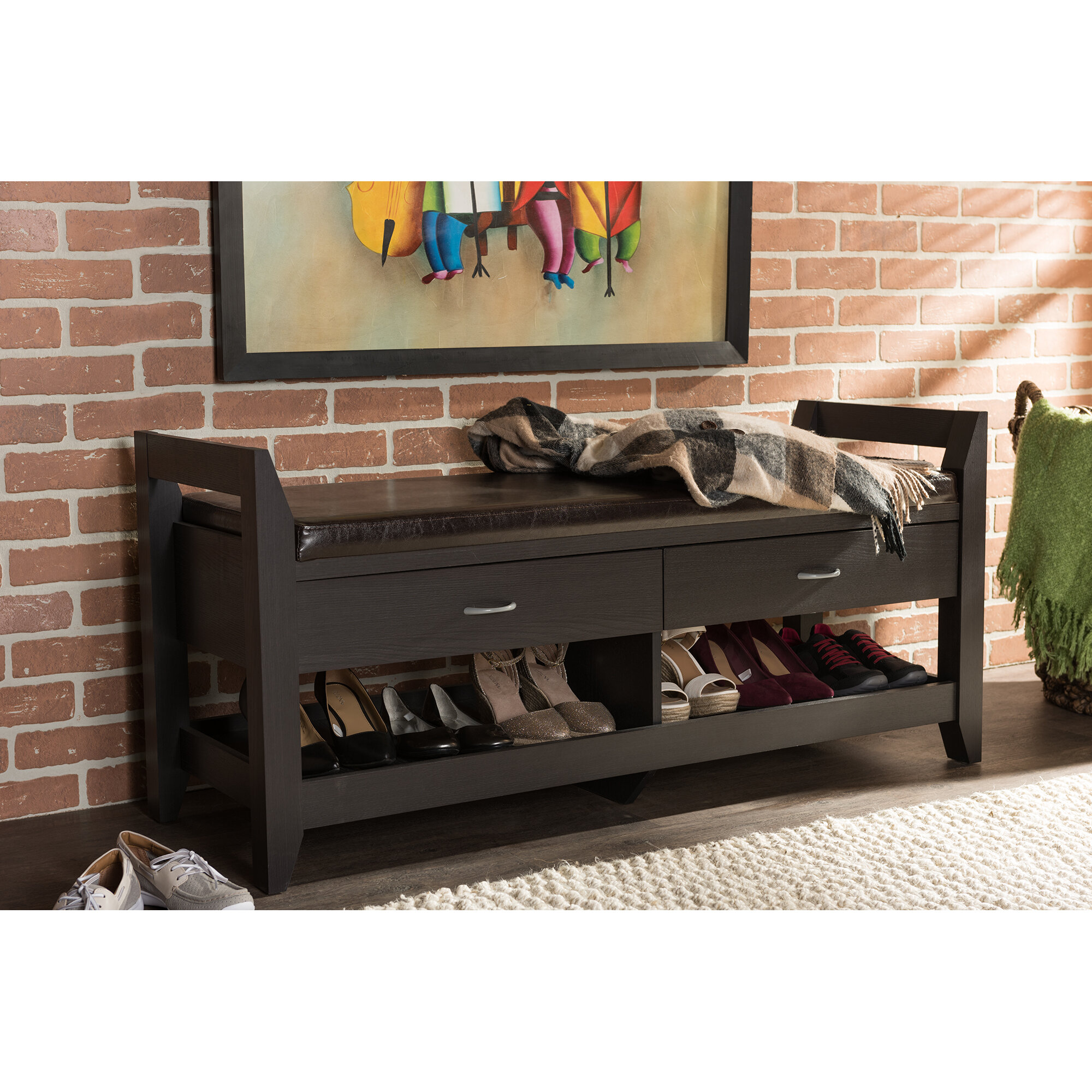Latitude run zavijah storage bench wayfair for Best brand of paint for kitchen cabinets with wall art for kids bathroom