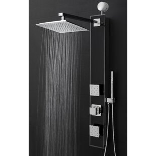 overhead rain shower head with handheld. Temperature Control Rain Shower Head Panel  Includes Rough In Valve Systems You Ll Love Wayfair