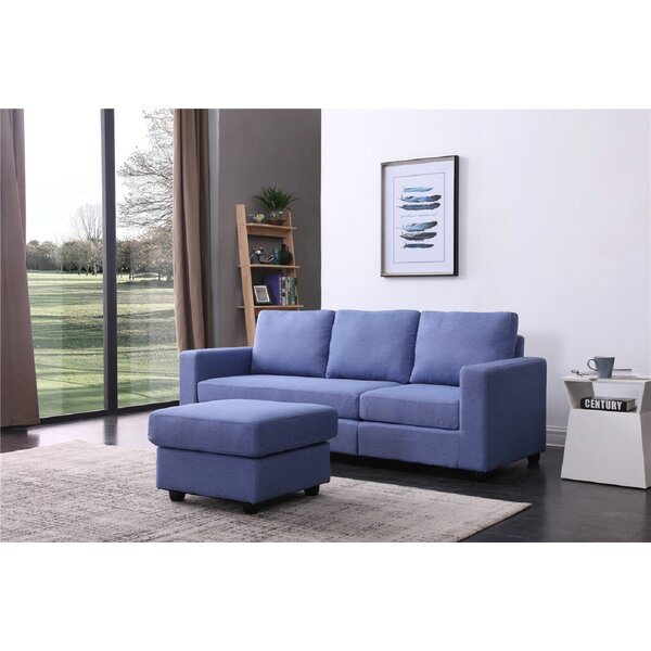 Cleland Heights Reversible Sectional with Ottoman by Mercury Row