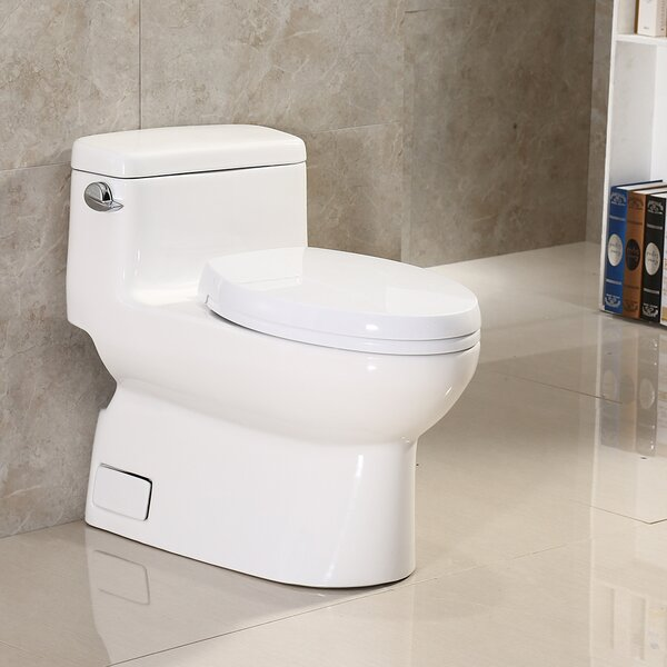 Dual Flush Elongated One-Piece Toilet by WoodBridge