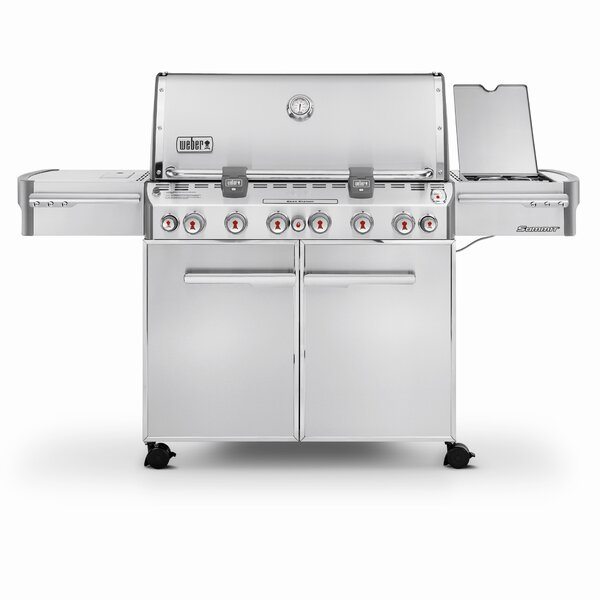 Summit S-670 6-Burner Natural Gas Grill with Smoker by Weber