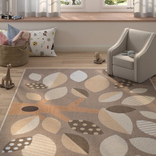 Altman Shady Grove Brown Area Rug by Zoomie Kids