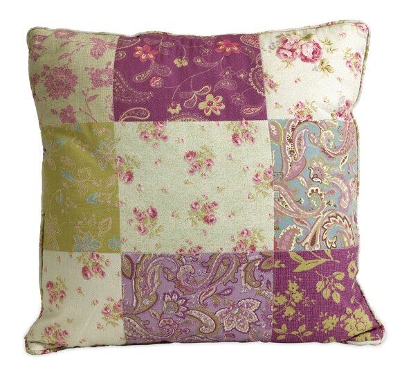 Ned Indoor/Outdoor Patchwork Pattern Cotton Throw Pillow by August Grove