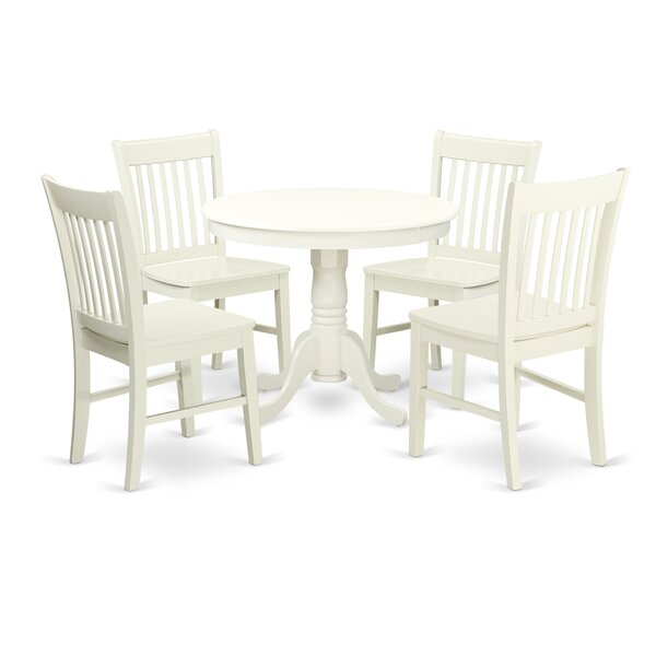 Stalham 5 Piece Breakfast Nook Solid Wood Dining Set by August Grove