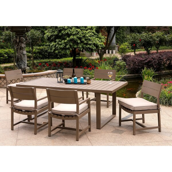 Daly 7 Piece Dining Set with Cushions