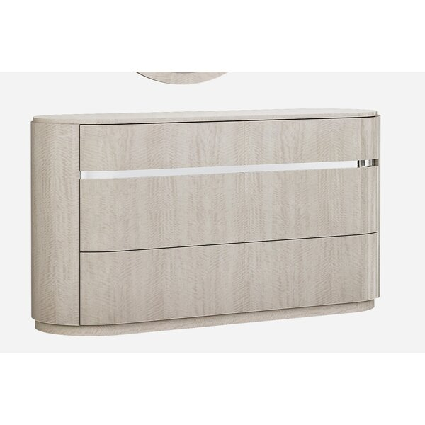 Gann 6 Drawer Double Dresser by Orren Ellis
