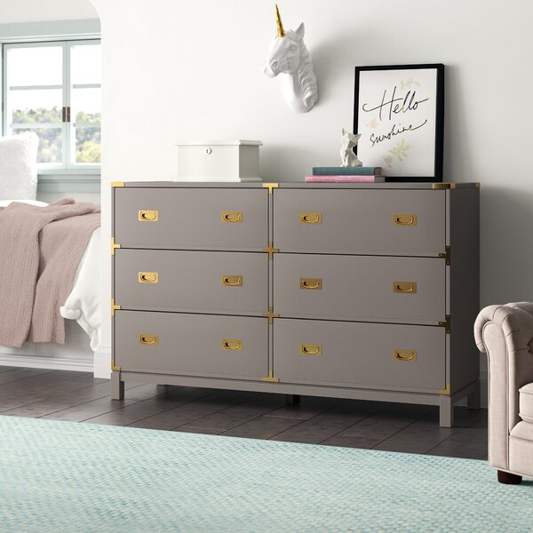 Arnulfo 6 Drawer Double Dresser by Willa Arlo Interiors