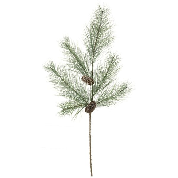Pine, Cones with Snow Foliage Plant (Set of 4) by Millwood Pines