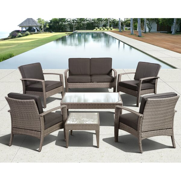 Hazle 7 Piece Sofa Seating Group with Cushions by Beachcrest Home
