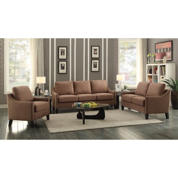 Bracken 3 Piece Living Room Set by Alcott Hill
