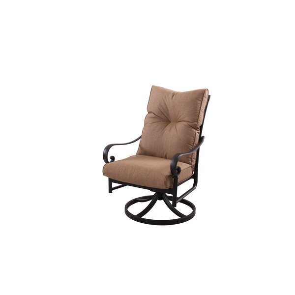 Carlitos Modern Swivel Patio Dining Chair with Cushion by Darby Home Co