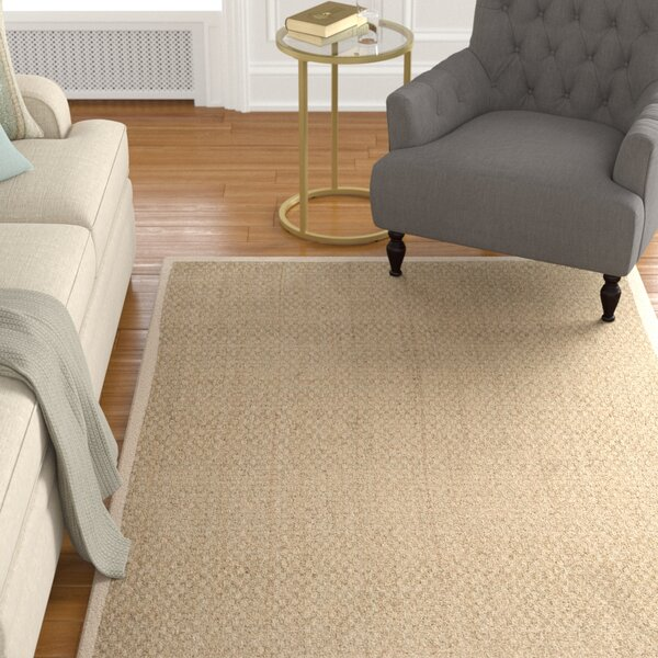 Catherine Power Loom Natural Ivory Area Rug By Alcott Hill.