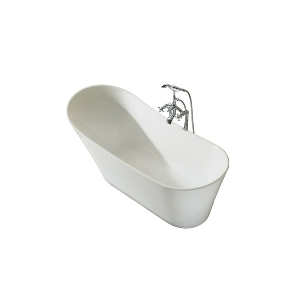 Paris Platinum 67 x 30 Freestanding Soaking Bathtub by Ariel Bath