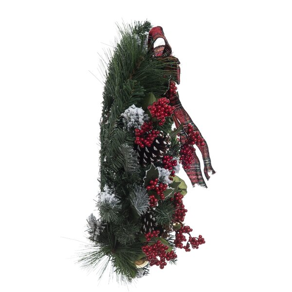 Walter Plaid Ribbon 24 Wreath by The Holiday Aisle