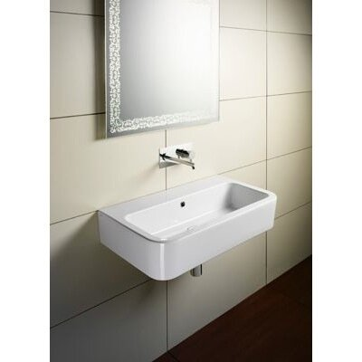 Traccia Ceramic Rectangular Vessel Bathroom Sink with Overflow by GSI Collection